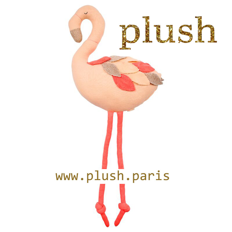 Flamant rose www.plush.paris